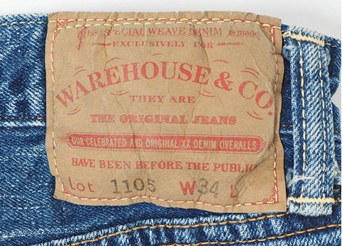 WAREHOUSE & CO. 2ND-HAND Lot.1105 USED WASH ディティール2