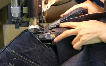 デニム縫製工場