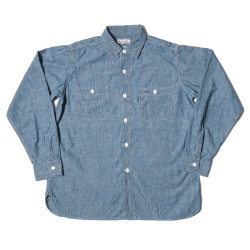 CHAMBRAY WORK SHIRTS(NO.3) SAX DSB