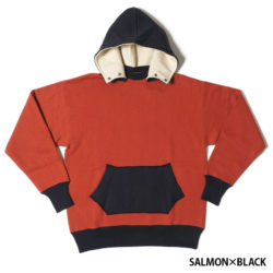 HC-M153-3 1930's Chin Snap 2tone Hood Sweatshirts