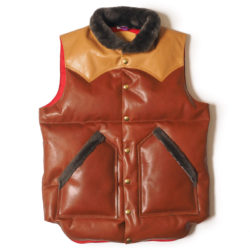 ROCKY MOUNTAIN×WAREHOUSE & CO. LEATHER DOWN VEST