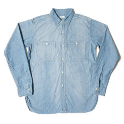 Lot 3076 TRIPLE STITCH L/S WORK SHIRTS シャンブレー サックス USED WASH