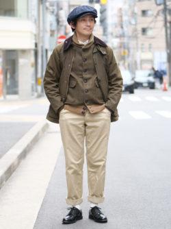 ジャケット×ジャケットの冬スタイル