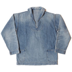 Lot 2141 USN DENIM PULLOVER JACKET USED WASH(淡)