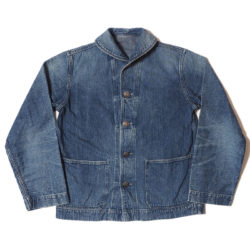 Lot 2142 USN DENIM DECK JACKET USED WASH