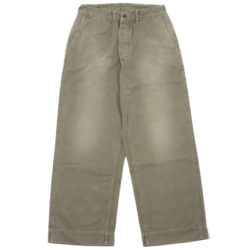 Lot 1210 MILITARY HERRINGBONE UTILITY PANTS USED WASH