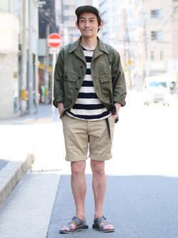 長袖とショーツの梅雨スタイル②