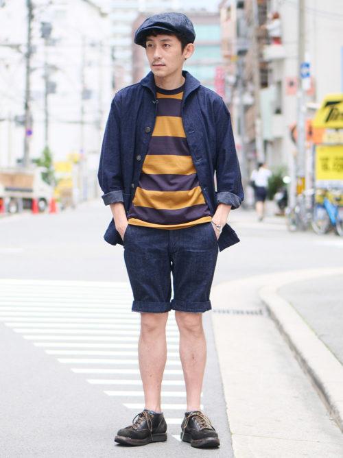 長袖とショーツの梅雨スタイル③