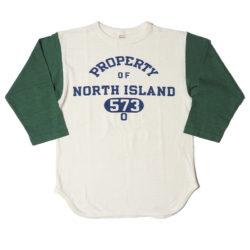 Lot 4800 7分袖ベースボールT NORTH ISLAND