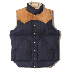 ROCKY MOUNTAIN × WAREHOUSE INDIGO DOWN VEST NON WASH