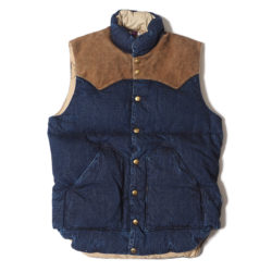 ROCKY MOUNTAIN × WAREHOUSE INDIGO DOWN VEST LONG WASH