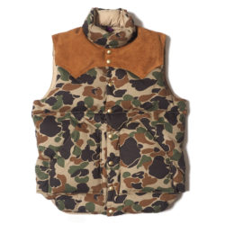 ROCKY MOUNTAIN × WAREHOUSE CAMOUFLAGE DOWN VEST NON WASH