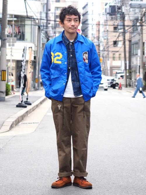 ジャケットオンジャケットのミックススタイル