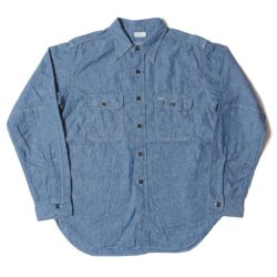 Lot 3036 CHAMBRAY SHIRTS WITH ELBOW PATCH